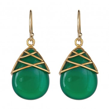 Green onyx tear drops