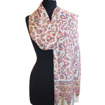 Beautiful Wedding woven floral pattern scarf