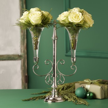 Epergne centerpiece flower holder