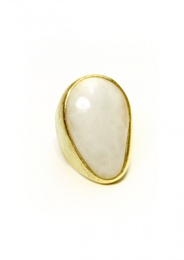 Dolomite large oval ring