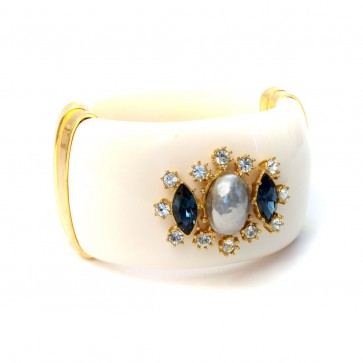 Ivory Jeweled Bangle