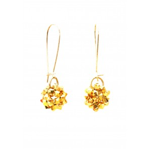 Gold mod ball earrings