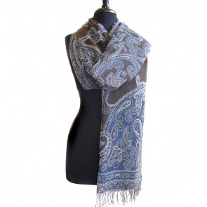 Danielle beaded paisley wool scarf