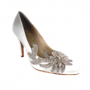 Grace Royal Embellished Silk Pump