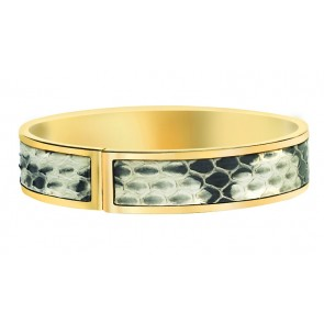 Gray and white snake skin bangle