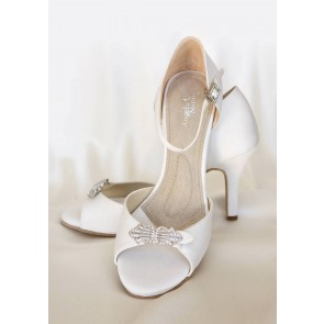 Astoria Hi White Crystal Brooch High Heels