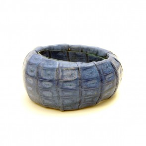 Crocodile asymmetrical cuff -  in mango or blue
