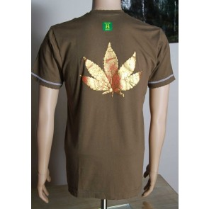 Raised metallic leaf T-shirt