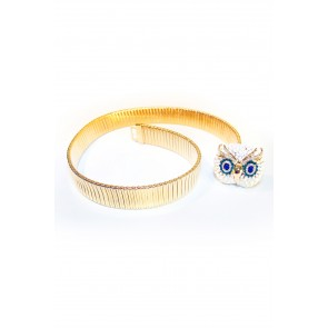 Gold owl belt  White