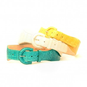 Crocodile D Buckle belts