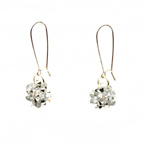 Silver mod ball earrings