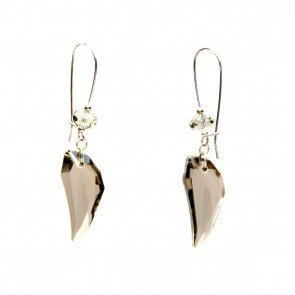 Smoke Swarovski crystal chandelier earrings