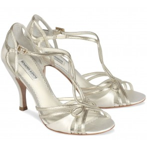 'Preston' Ivory/Gold Mist Sandal