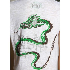 T-shirt with dragon graphic